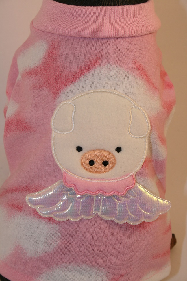 PAMPET / Puppe Love Dog T-Shirt, Angel Pig Pink, Size 5