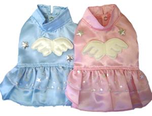 PAMPET / Puppe Love Dog Skirt, Angel Satin Blue, Size 4