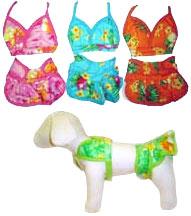 PAMPET / Puppe Love Dog Bikini, Blue, Size 0