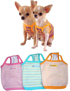 PAMPET / Puppe Love Dog Tank Top, Striped Blue, Size 5