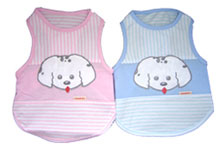 PAMPET / Puppe Love Dog Tank Top, Lickably Cute Blue, Size 4