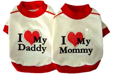 PAMPET / Puppe Love Dog Shirt, I Love My Daddy, Size 00