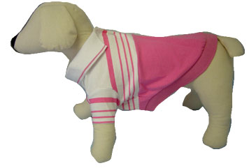 PAMPET / Puppe Love Dog Shirt, Polo Striped Pink & White, Size 0