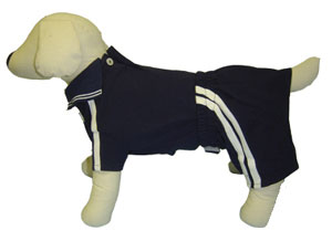 PAMPET / Puppe Love Dog Polo Shirt & Board Shorts Set, Blue & White, Size 2