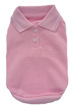 PAMPET / Puppe Love Dog Shirt, Sleeveless Polo Pink, Size 00