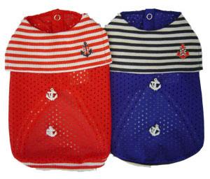 PAMPET / Puppe Love Dog Shirt, Sleeveless Mesh Sailor Blue, Size 4