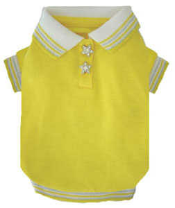 PAMPET / Puppe Love Dog Shirt, Polo Yellow Star, Size 00