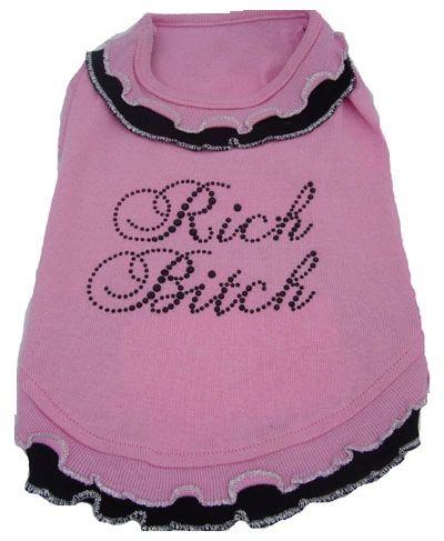 PAMPET / Puppe Love Dog Dress, Rich Bitch, Size 0