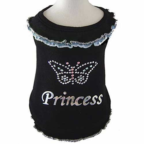 PAMPET / Puppe Love Dog Blouse, Butterfly Princess Blue, Size 00