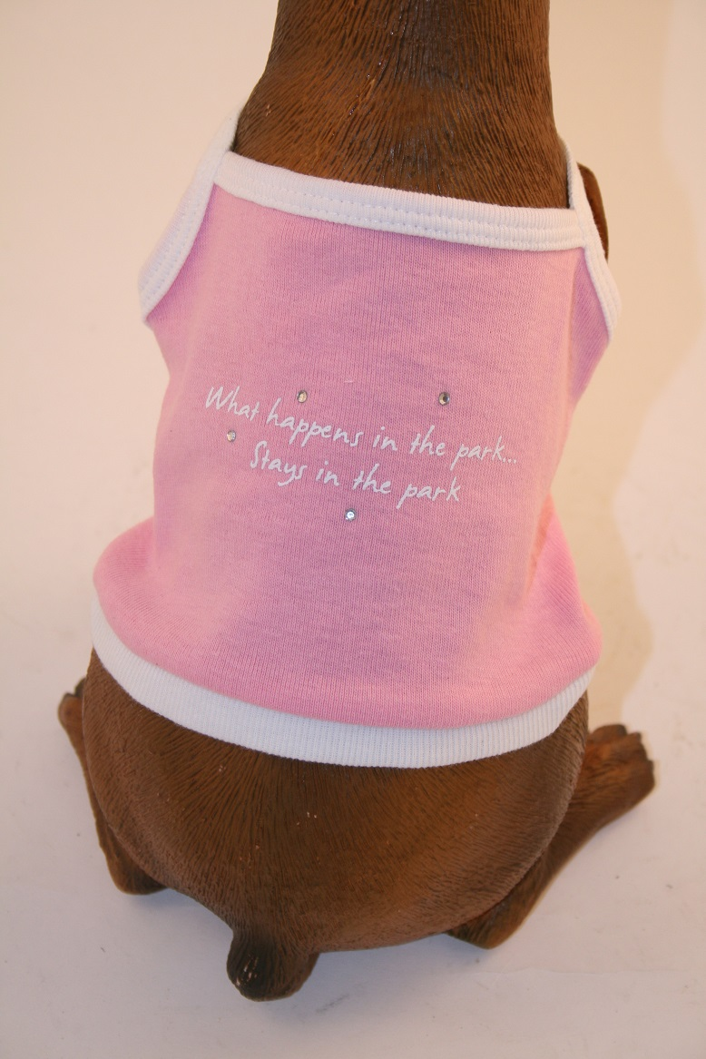PAMPET / Puppe Love Dog Tank Top, What Happens Pink, Size 0