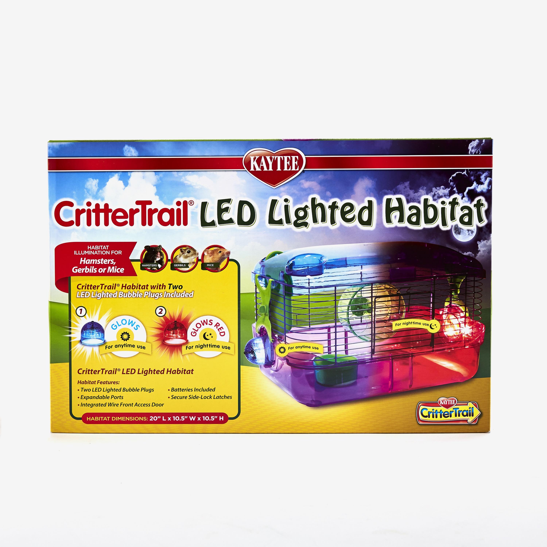 Kaytee CritterTrail LED Lighted Small Animal Habitat, 20-in