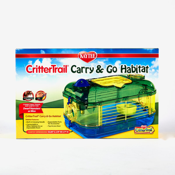 Kaytee CritterTrail Carry & Go Travel Small Animal Habitat, 12.5-in