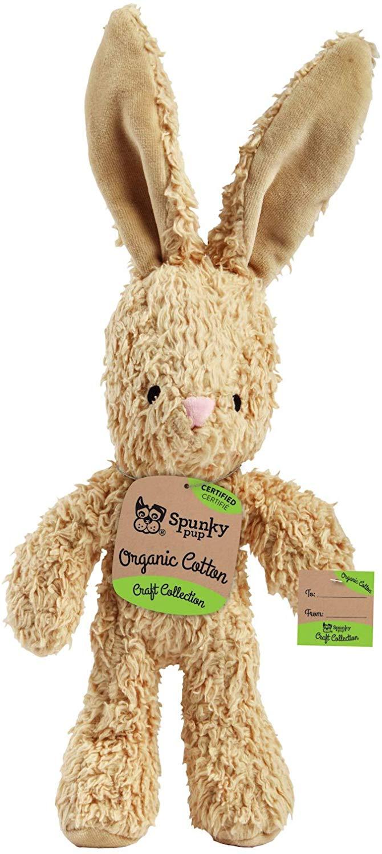 Spunky Pup Organic Cotton Bunny Dog Toy, Large