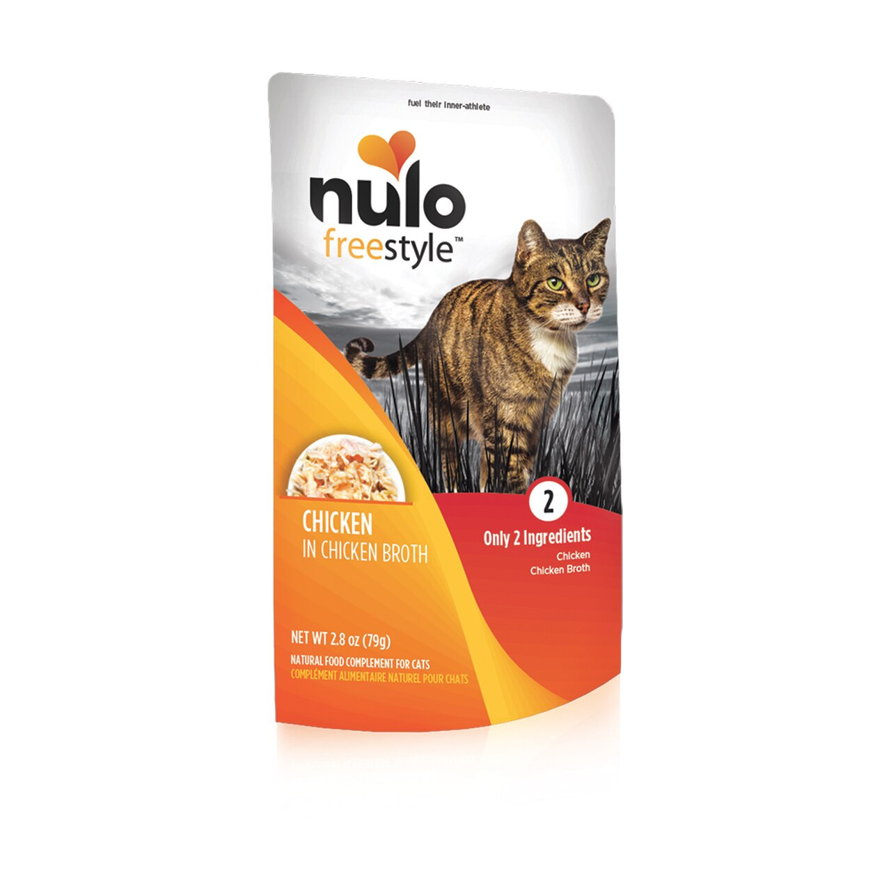Nulo Cat Freestyle Pouch Chicken in Broth Cat Food Topper, 2.8-oz, 24-pk