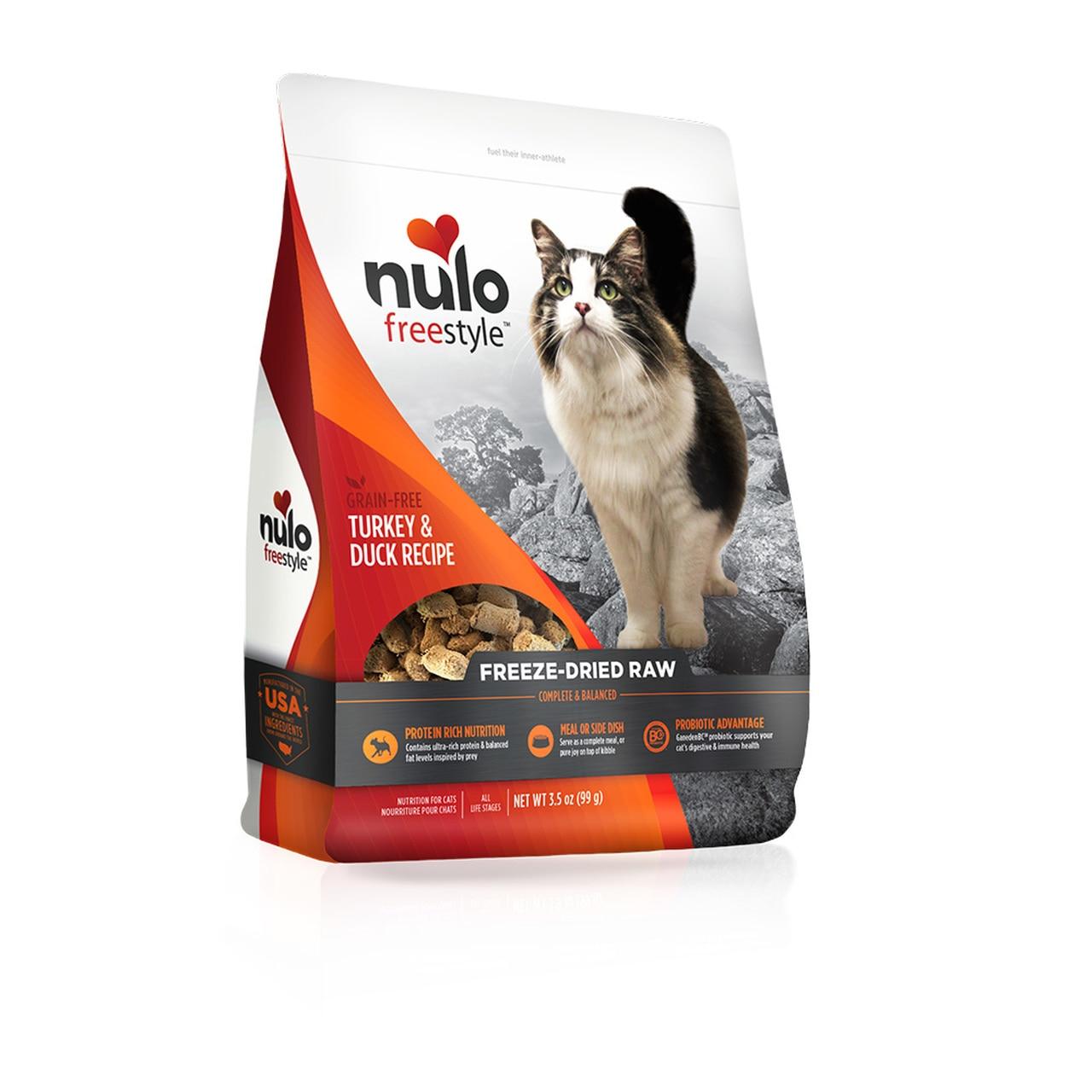 Nulo Freestyle Turkey & Duck Freeze-Dried Raw Cat Food, 3.5-oz