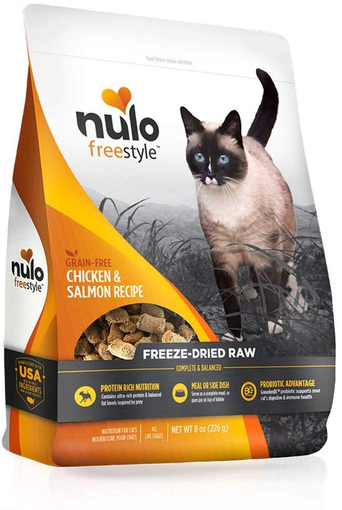 Nulo Freestyle Chicken & Salmon Freeze-Dried Raw Cat Food, 8-oz