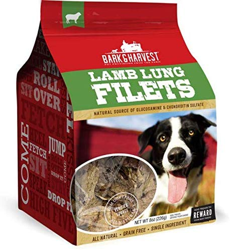Superior Farms Bark & Harvest Lamb Lung Filets Dog Treats, 8-oz