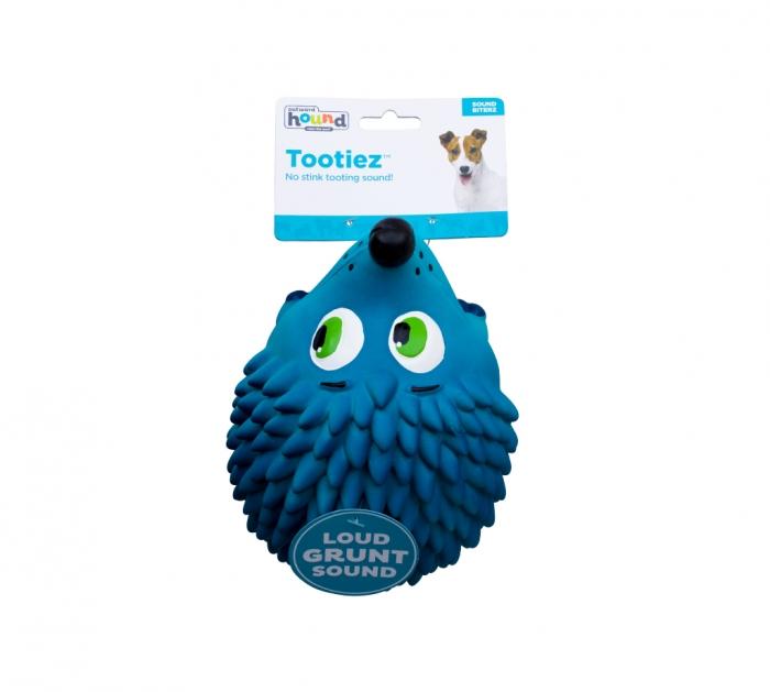 Outward Hound Tootiez Hedgehog Dog Toy, Blue, Large