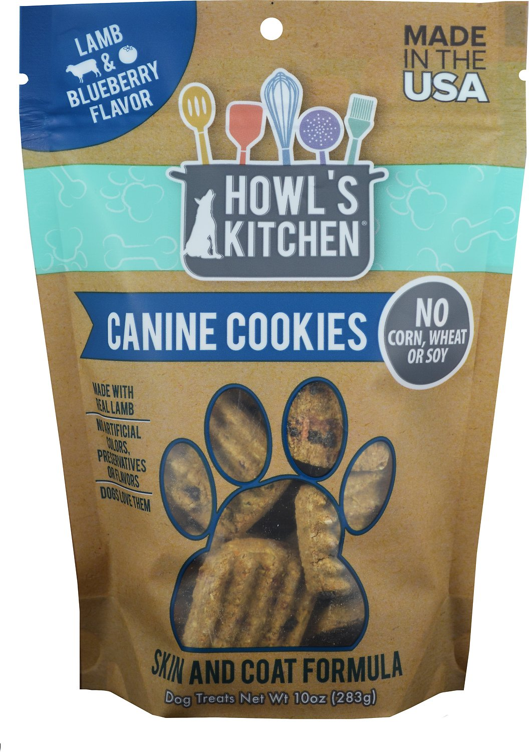 Howl's Kitchen Canine Cookies Lamb & Blueberry Flavor Dog Treats, 10-oz