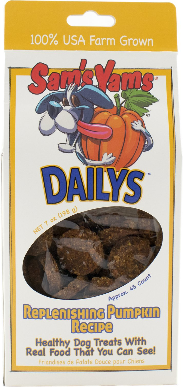Sam's Yams Daily's Replenishing Pumpkin Recipe Dog Treats, 9-oz box