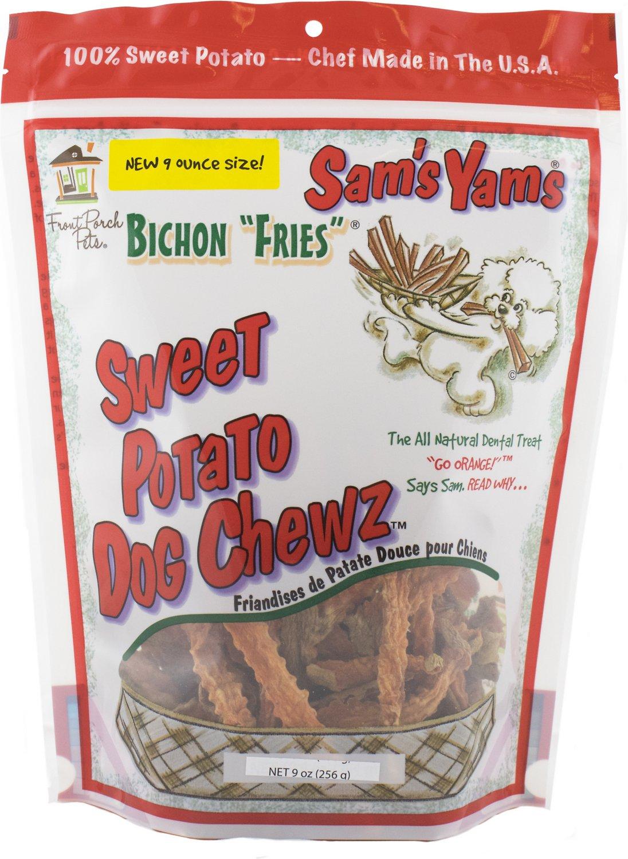 "Sam's Yams Bichon ""Fries"" Sweet Potato Dog Treats, 9-oz bag"