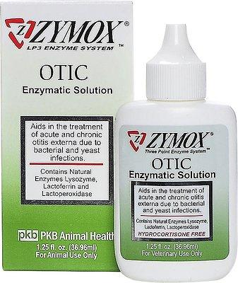Zymox Otic Pet Ear Treatment without Hydrocortisone, 1.25-oz bottle