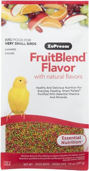 ZuPreem FruitBlend with Natural Fruit Flavors Extra Small Bird Food, 14-oz bag