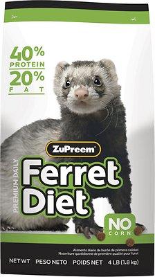 ZuPreem Premium Diet Ferret Food, 4-lb bag
