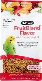 ZuPreem FruitBlend with Natural Fruit Flavors Small Bird Food, 14-oz bag