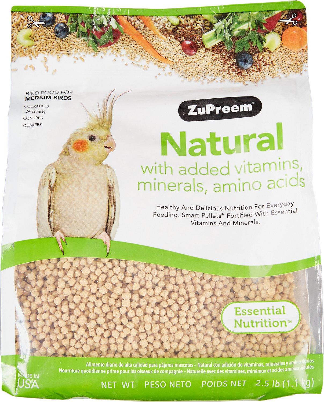 ZuPreem Natural with Vitamins & Minerals Medium Bird Food, 2.5-lb bag