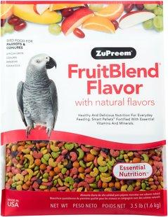 ZuPreem FruitBlend with Natural Fruit Flavors Parrot & Conure Bird Food, 3.5-lb bag