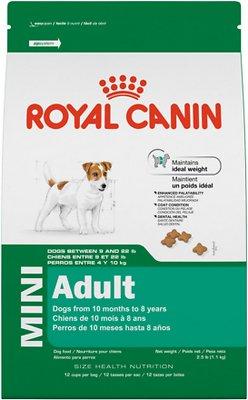 Royal Canin Mini Adult Formula Dog Dry Food, 2.5-lb bag
