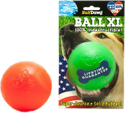 Ruff Dawg Indestructible Ball Dog Toy, Color Varies