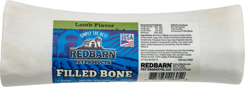 Redbarn Large Lamb Filled Bones Dog Treats