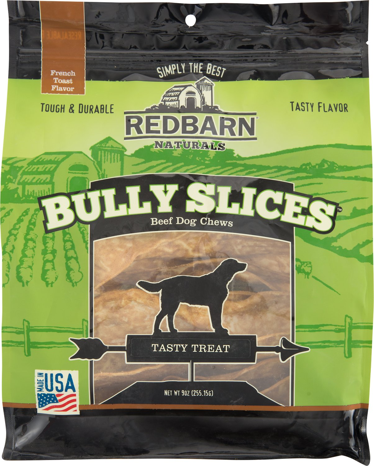 Redbarn Naturals Bully Slices French Toast Flavor Beef Dog Treats, 9-oz bag