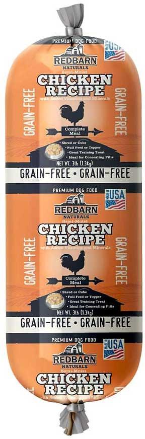 Redbarn Naturals Grain-Free Chicken Recipe Dog Food Roll, 3-lb roll