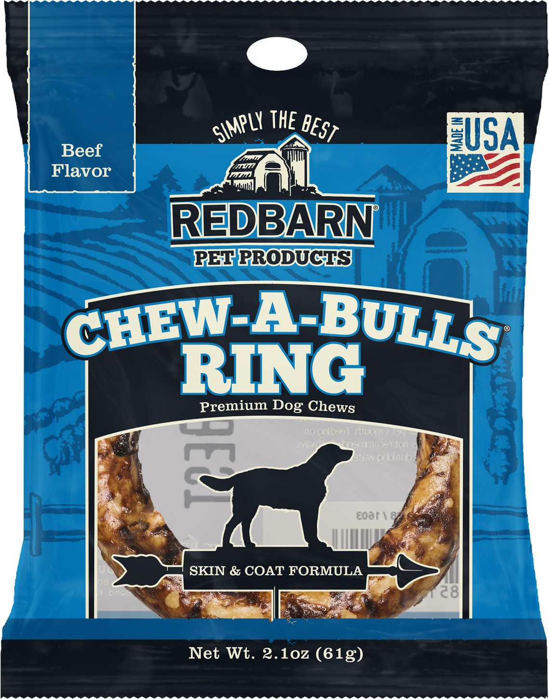 Redbarn Beef Flavor Skin & Coat Formula Chew-A-Bulls Ring Dog Treat, 1 count