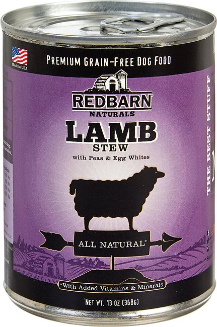 Redbarn Naturals Lamb Stew Grain-Free Canned Dog Food, 13-oz