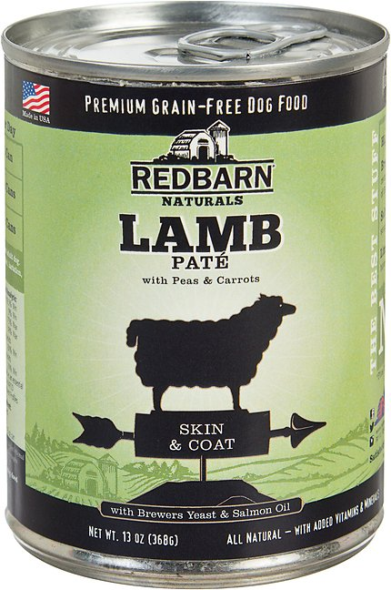 Redbarn Naturals Lamb Pate Skin & Coat Grain-Free Canned Dog Food, 13-oz