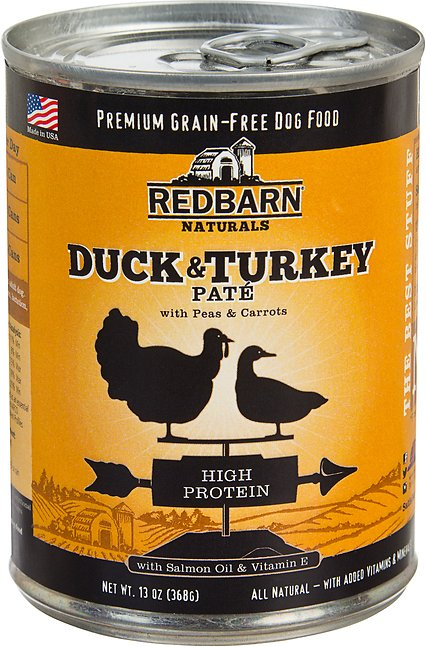 Redbarn Naturals Duck & Turkey Pate High Protein Grain-Free Canned Dog Food, 13-oz