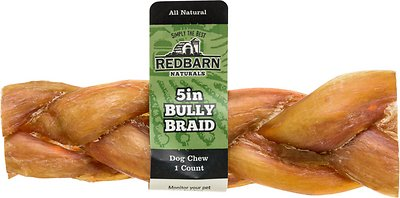 "Redbarn Braided Bully Sticks 5"" Dog Treats, 1 count"