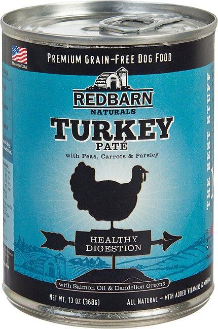 Redbarn Naturals Turkey Pate Healthy Digestion Grain-Free Canned Dog Food, 13-oz