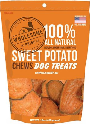 Wholesome Pride Pet Treats Sweet Potato Chews Dog Treats