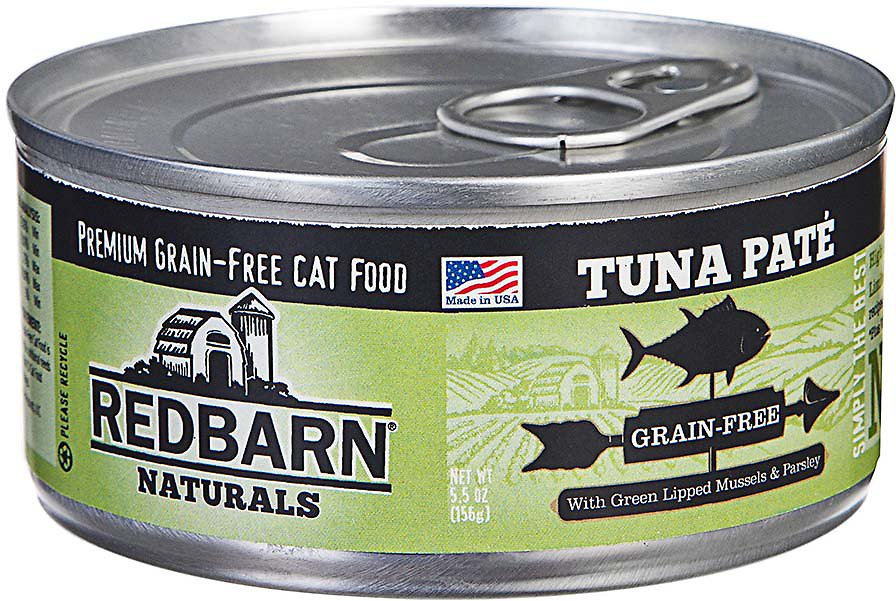 Redbarn Naturals Tuna Pate Grain-Free Canned Cat Food, 5.5-oz