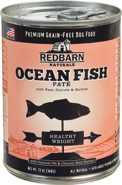 Redbarn Naturals Ocean Fish Pate Healthy Weight Grain-Free Canned Dog Food, 13-oz
