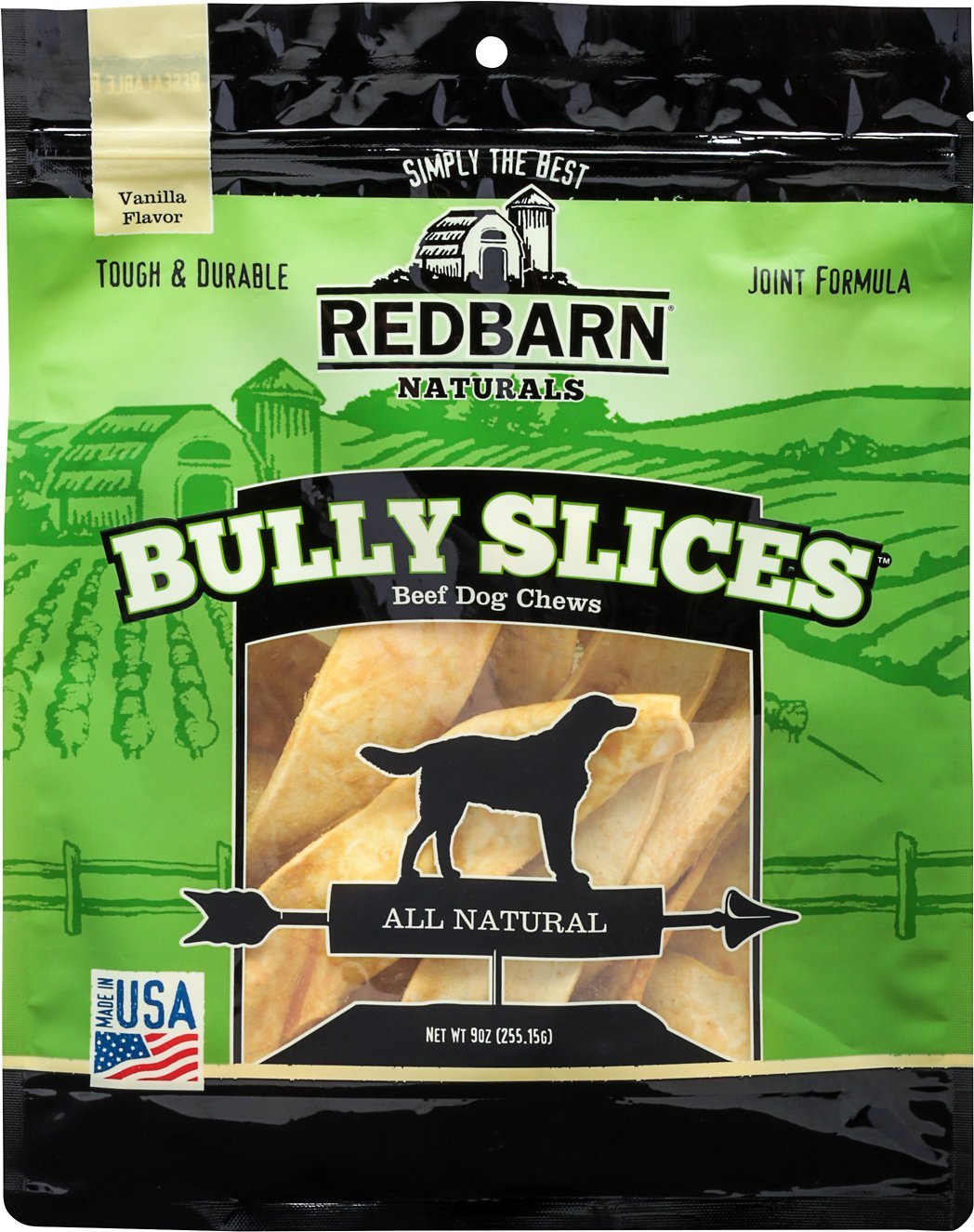 Redbarn Naturals Bully Slices Vanilla Flavor Beef Dog Treats, 9-oz bag
