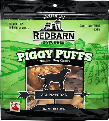 Redbarn Piggy Puffs Dog Treats, 1-lb bag