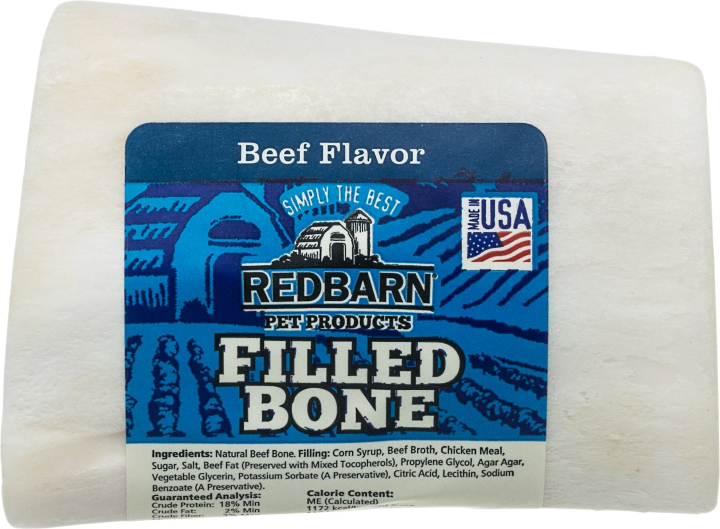 Redbarn Small Beef Filled Bones Dog Treats
