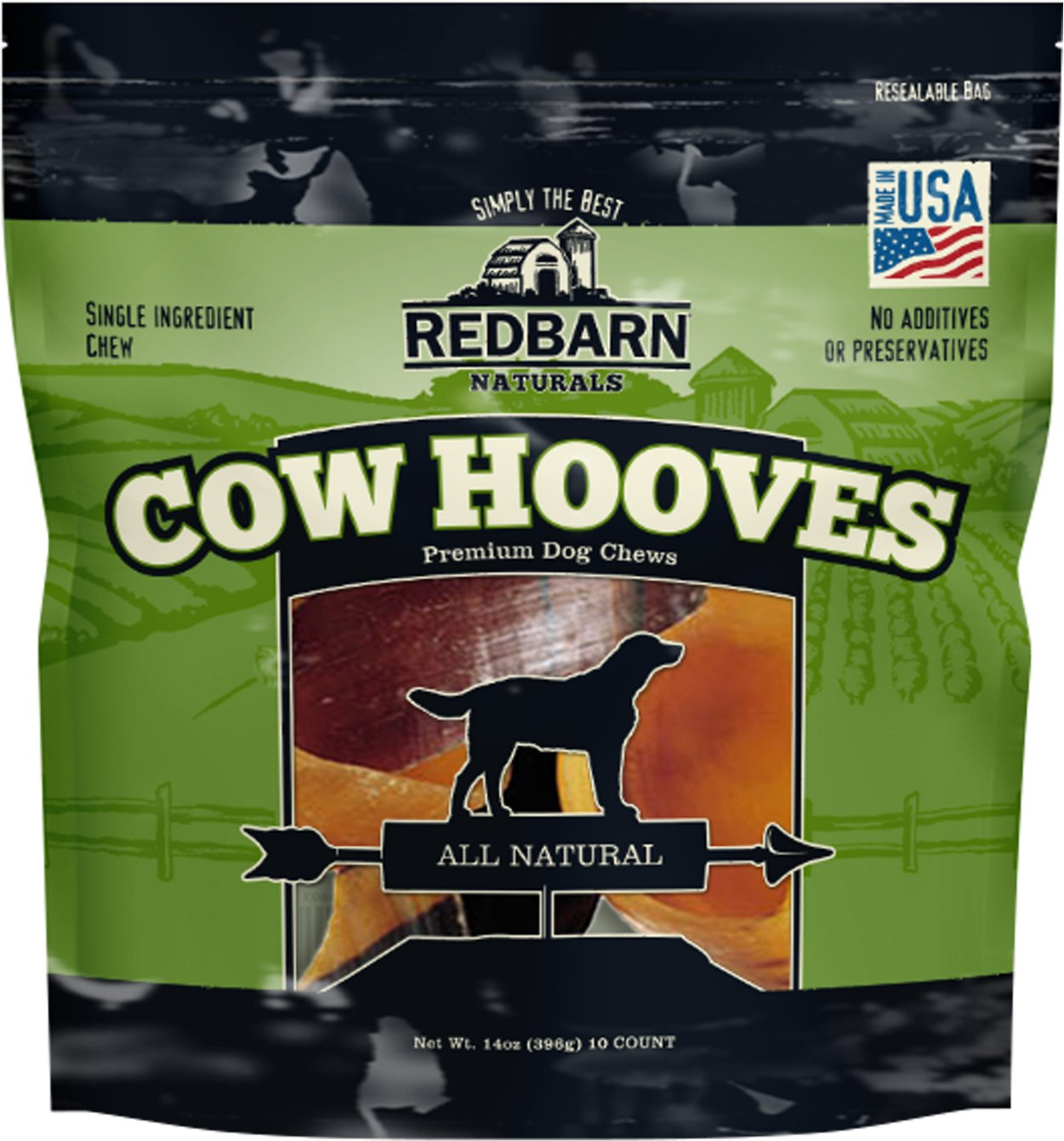 Redbarn Naturals Cow Hooves Dog Treats, 1-count Size: 21-count