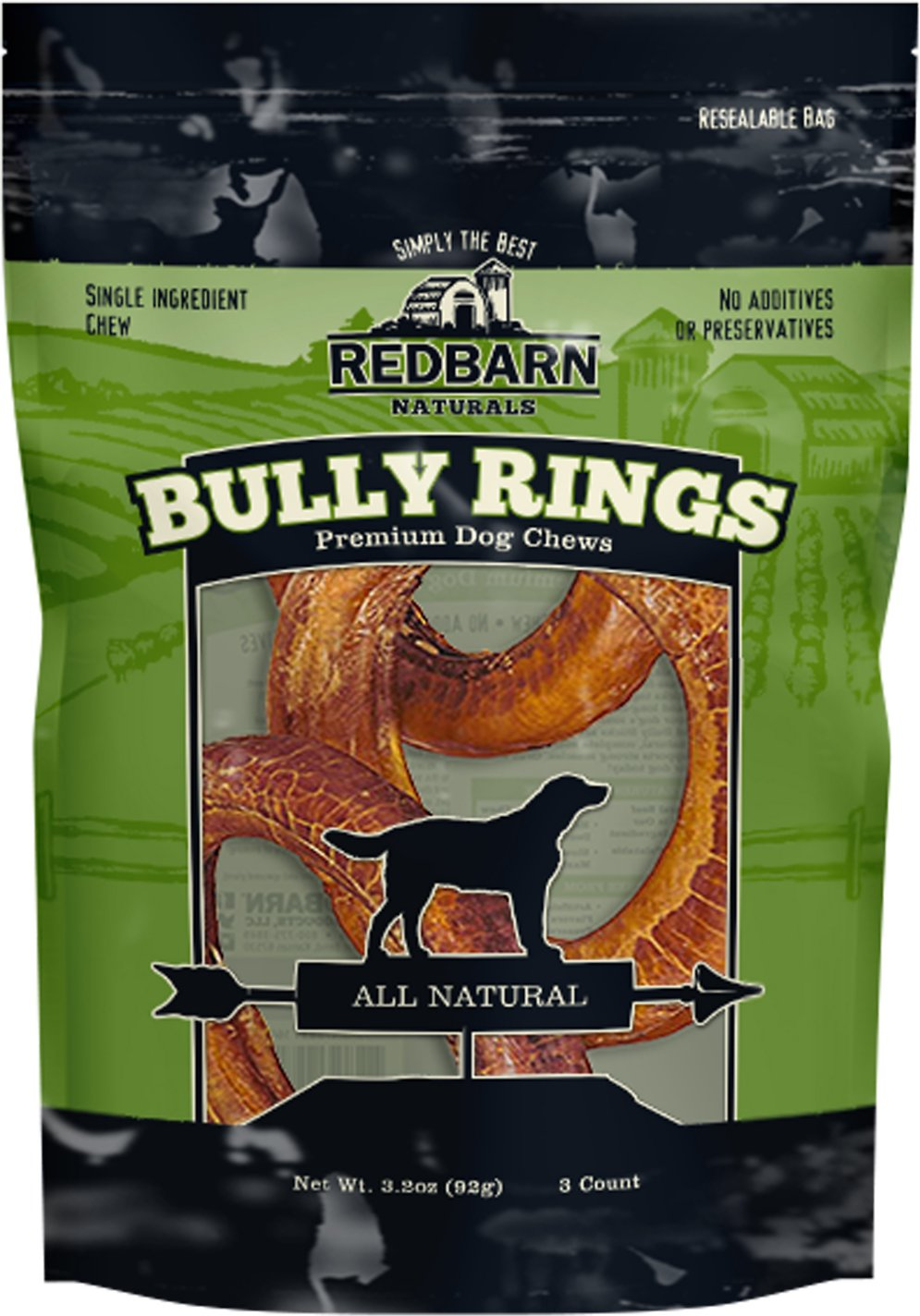 Redbarn Naturals Bully Rings Dog Treats
